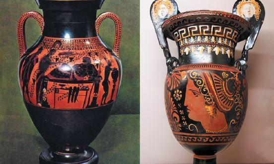 Vasos da arte grega.