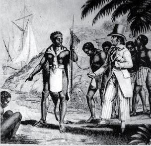 A escravidão no processo de colonização da África.