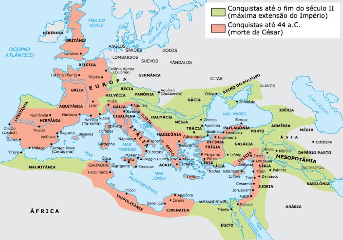 Mapas do Império Romano após as guerras púnicas.