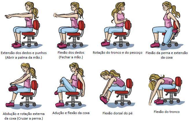 Exercícios de alongamento.