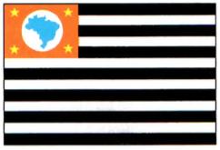Imagem da bandeira do Estado de São Paulo.