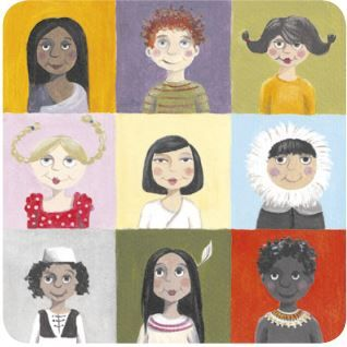Imagem retratando pessoas de diversas etnias.