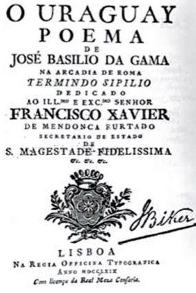 Capa do livro O Uraguai.