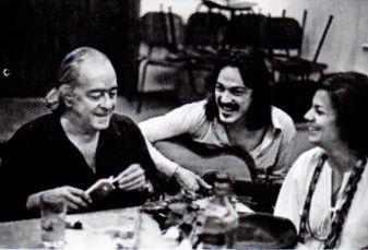 Retrato de Vinicius e Toquinho fazendo uma canção.
