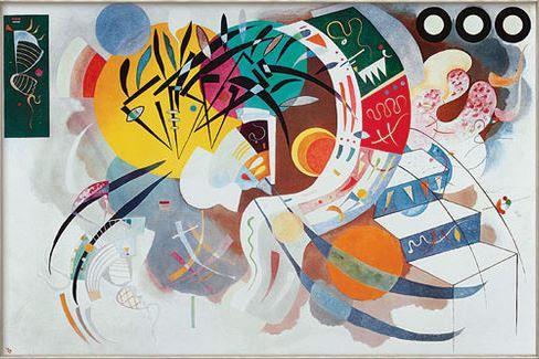 Quadro da arte abstrata cheio de rabiscos de Kandinsky