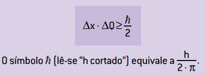 Equação do princípio da incerteza.