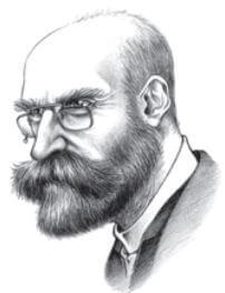 Retrato de Durkheim.