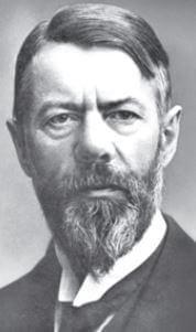 Retrato de Max Weber.