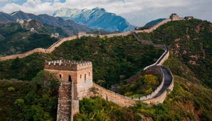 Foto da Muralha da China.