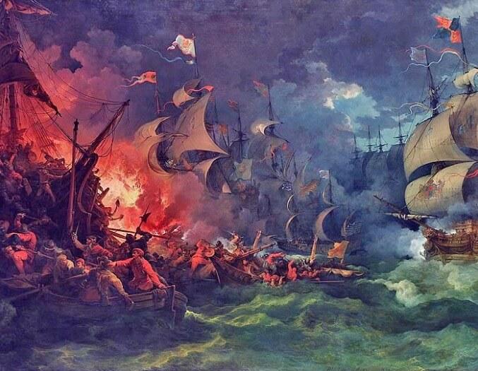 Batalha contra a invencível armada.