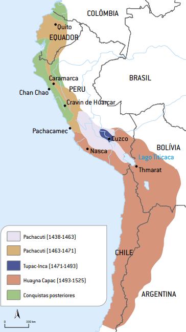 Mapa do Império Inca.