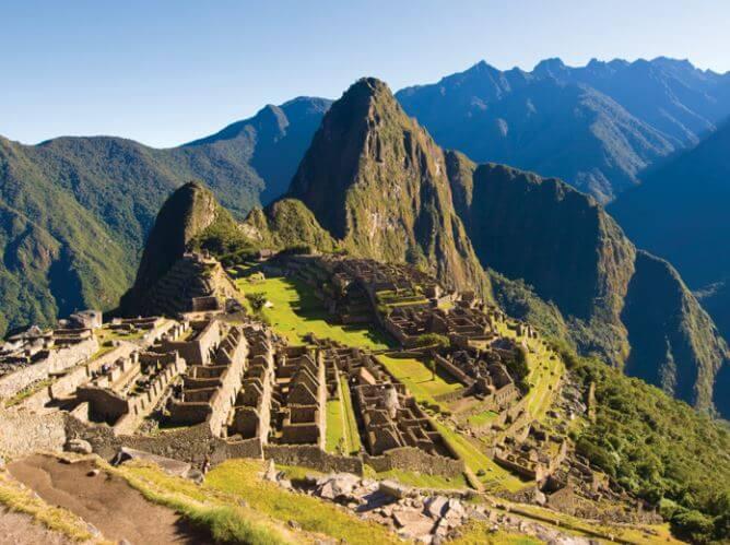 Foto de Machu Picchu atualmente.