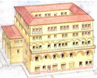 Principal moradia dos romanos.