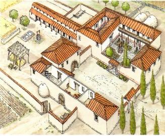 Casas de campo dos romanos.