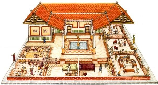 Casa de família rica na Roma Antiga.
