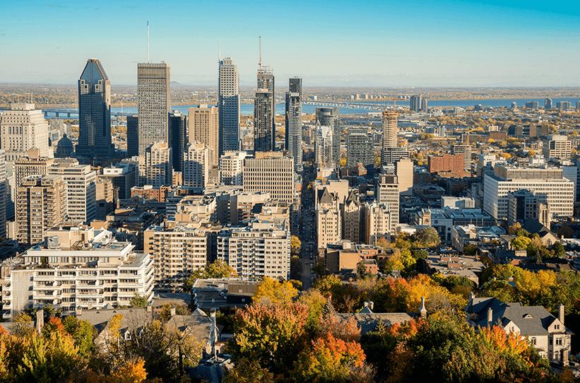 Foto aérea de Montreal.