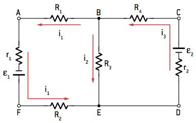Exemplo de um circuito com mais de uma malha