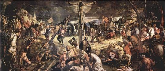 Quado Crucificação de Tintoretto