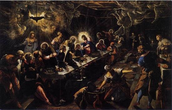 Quadro Última Ceia de Tintoretto
