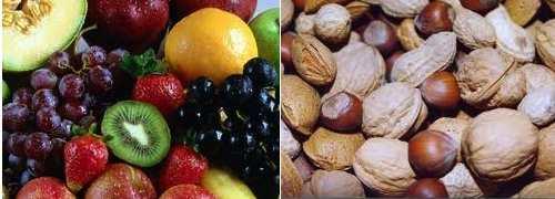 Frutos carnosos e secos