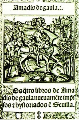 Capa da primeira edição espanhola de Amadis de Gaula, de 1508.