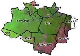 Mapa da Amazônia Legal