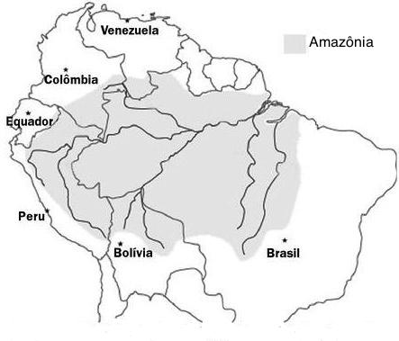 Área da Amazônia