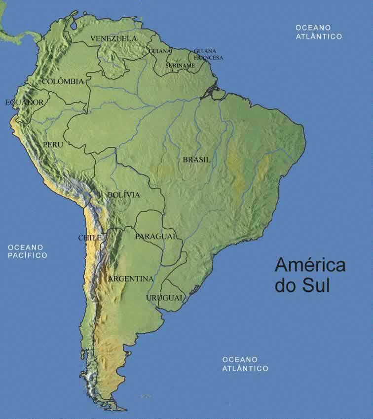 Mapa dos Continentes  Cola da Web