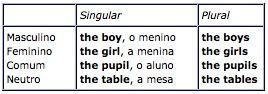 Artigo definido em ingles