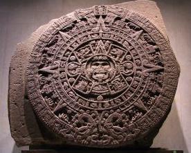 Escultura de um calendário asteca