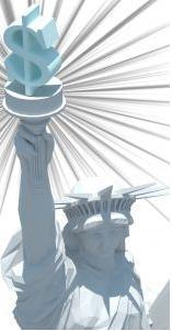 Estátua da liberdade capitalista