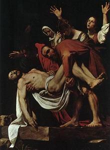 Quadro A deposição de Cristo de Caravaggio
