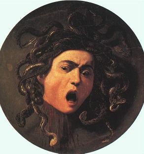 Quadro Cabeça de Medusa de Caravaggio