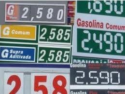 Exemplo de cartel nos preços da gasolina