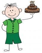 Menino com bolo - Exemplo de convite