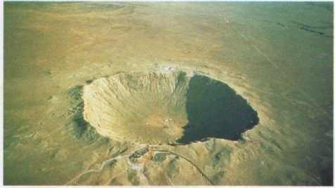 Cratera que um meteoro fez no Deserto do Arizona