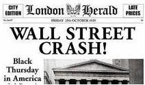 Notícia em jornal da crise de 1929