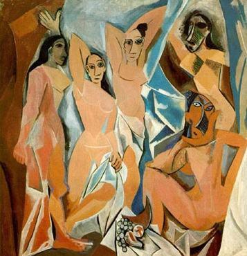 Quadro cubista Demoiselles d'Avignon