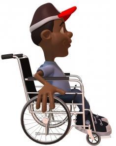 Deficiente em cadeira de rodas