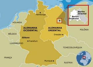 Divisão da Alemanha em ocidental e oriental