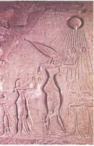 Escultura do Egito Antigo - culto ao sol