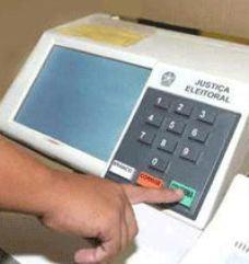 Urna eletrônica usada nas eleições no Brasil