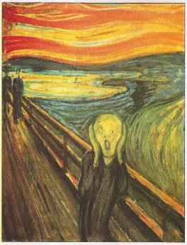 Quadro O Grito - Arte expressionista