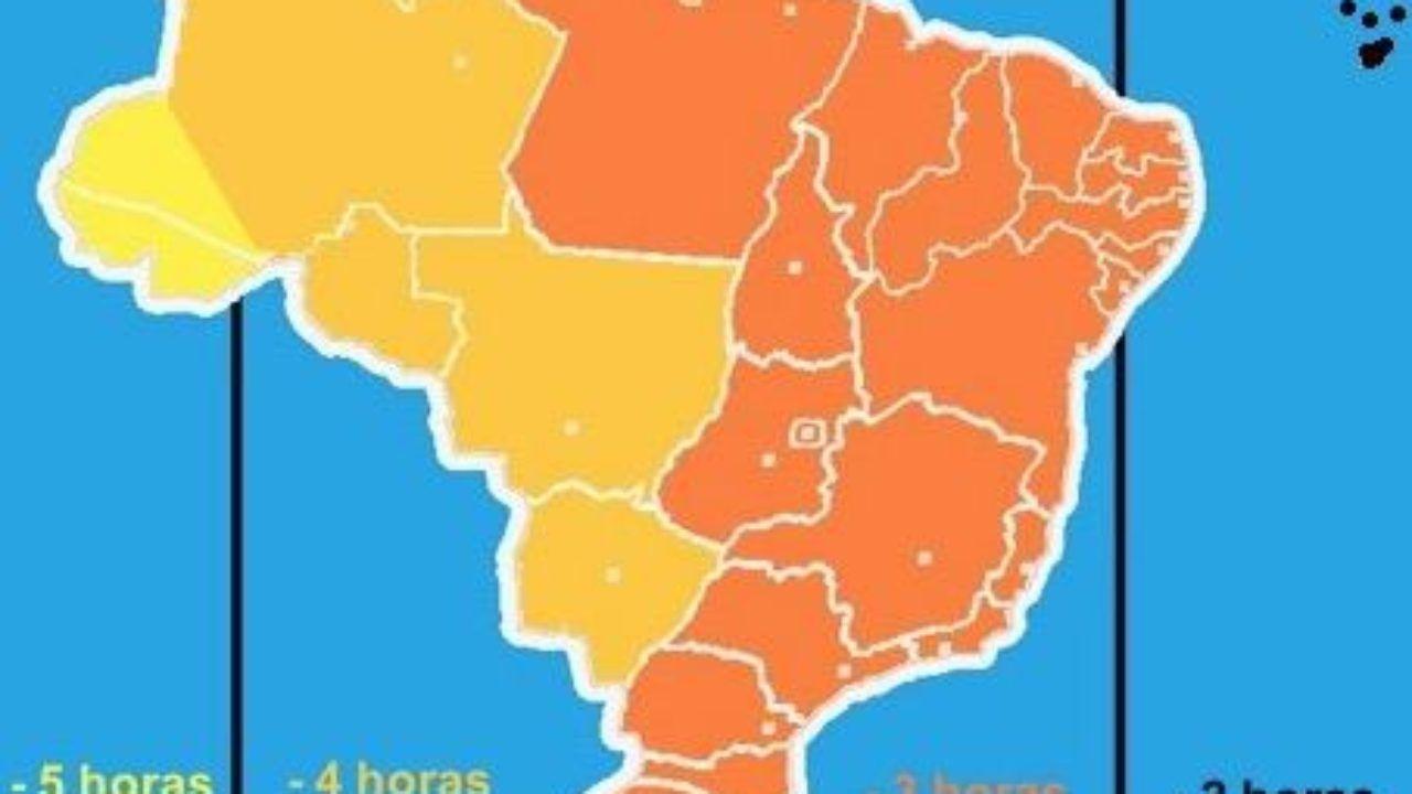 8c4db4e49e7 Fusos Horários do Brasil - Cola da Web