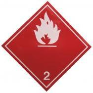 Placa de cuidado com gases combustíveis