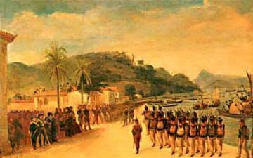 Partida das tropas para a Guerra da Cisplatina