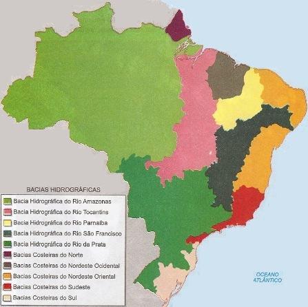 Nova divisão da hidrografia brasileira