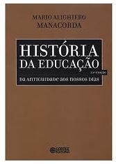 Capa do livro História da Educaç˜ão