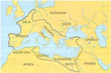 Mapa do Império Romano