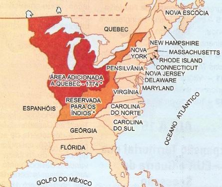 As treza colônias antes da independência